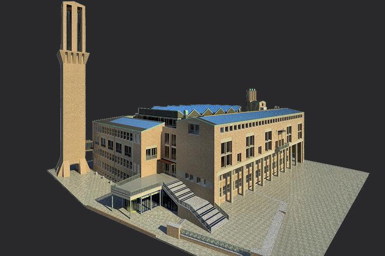 3D tekening stadhuis Hengelo