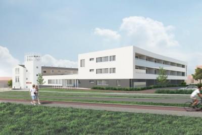 ensemble nieuwbouw en monument visserijschool katwijk